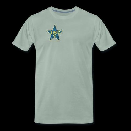 Star blau Jahrgangs-T-Shirt, jede Jahreszahl - Männer Premium T-Shirt