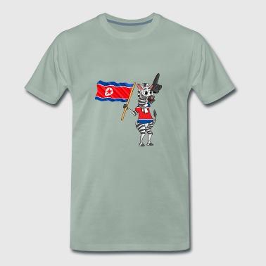 Nordkoreaner Zebra - Männer Premium T-Shirt