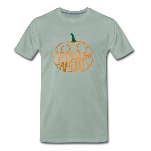Græskar med citat - Herre premium T-shirt