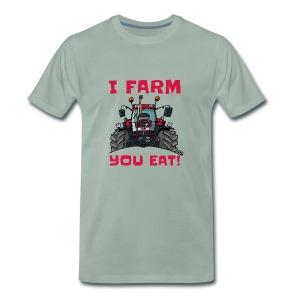 I farm you eat case - Mannen Premium T-shirt