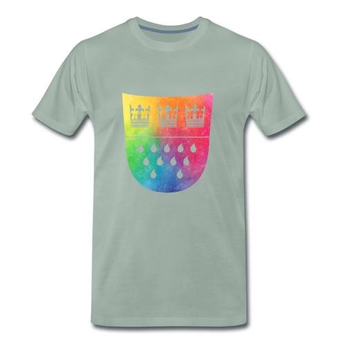 Kölner Wappen Rainbow - Männer Premium T-Shirt