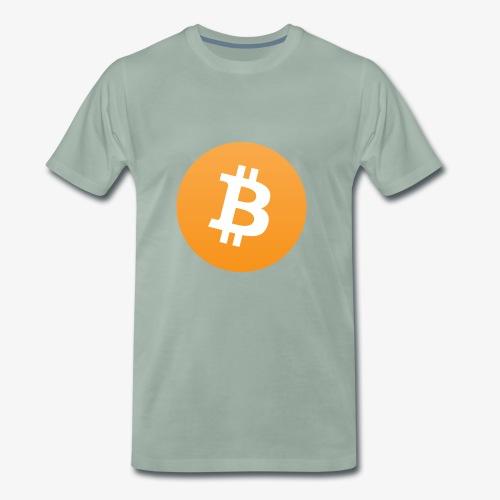 Original bitcoin symbol - Men's Premium T-Shirt