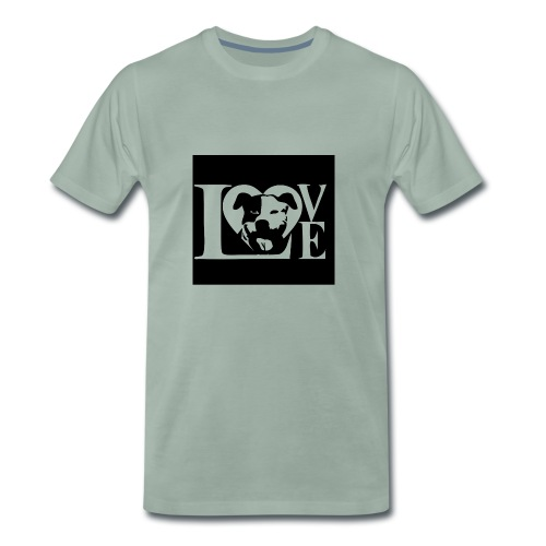 Love Dog - Männer Premium T-Shirt