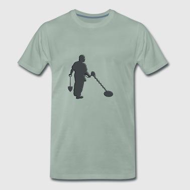 Sondeln - Hombre con detector de metales - Camiseta premium hombre