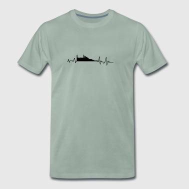 Heartbeat Edinburgh T-paita lahja Skotlanti - Miesten premium t-paita