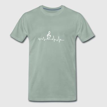 Heartbeat Music Tee Gift Musikinstrument - Premium-T-shirt herr