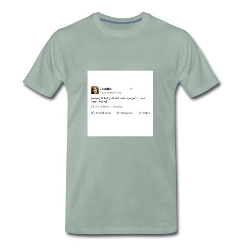 kussensloop_ticket_geboekt_naar_spanje - Mannen Premium T-shirt