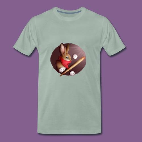 jugador de béisbol de conejo - Camiseta premium hombre
