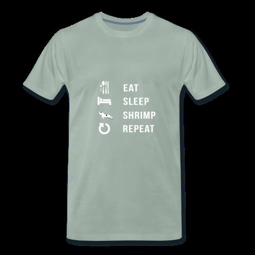 EAT SLEEP SHRIMP REPEAT [BLANC] - T-shirt Premium Homme