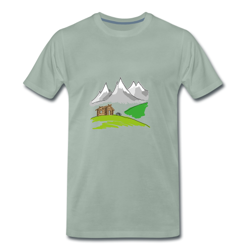 MTB Mountainbike Landschaft - Männer Premium T-Shirt