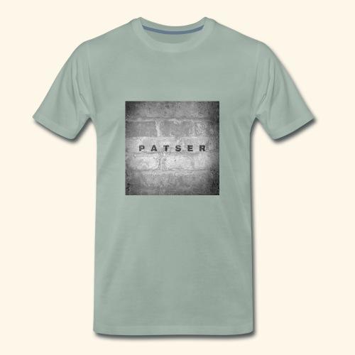 patser grijze steen - Mannen Premium T-shirt