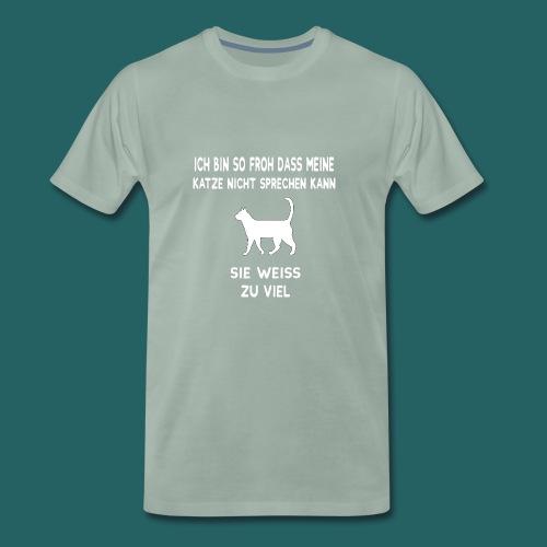Meine Katze weiß zu viel - Limitierte Edition - Männer Premium T-Shirt