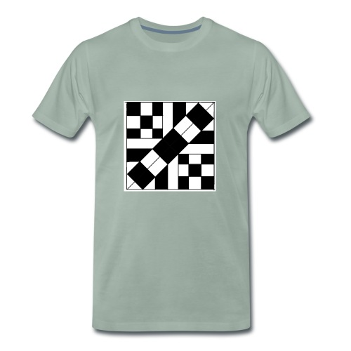 checker patterned art - Men's Premium T-Shirt