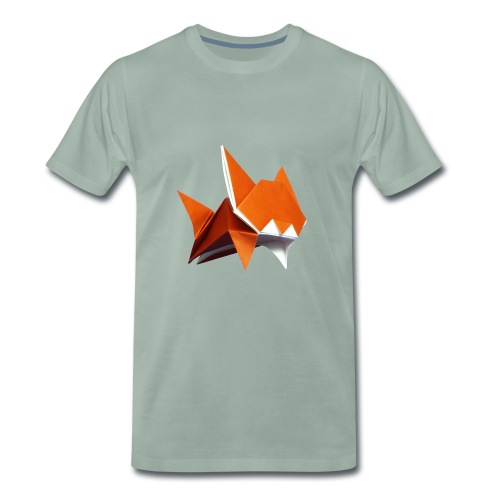 Jumping Cat Origami - Cat - Gato - Katze - Gatto - Men's Premium T-Shirt