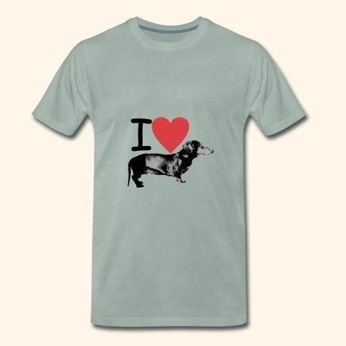 Pakopaka - I Love Dachshunds - Männer Premium T-Shirt