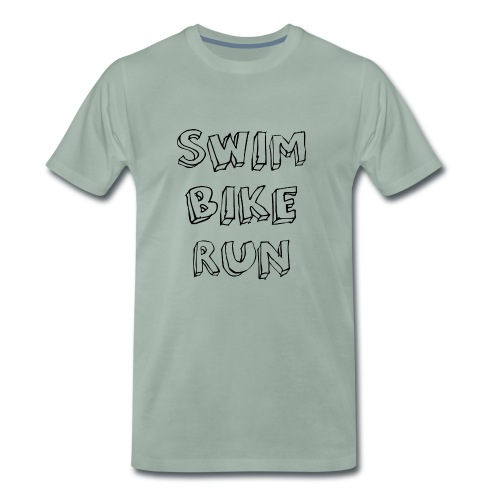 Triathlon: Swim - Bike - Run - Männer Premium T-Shirt