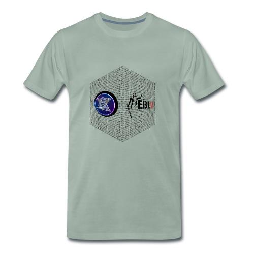 disen o dos canales cubo binario logos delante - Men's Premium T-Shirt