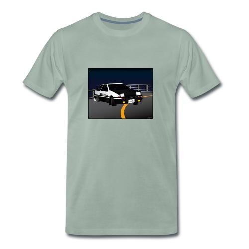 Initial D Drifting Akina - Mannen Premium T-shirt