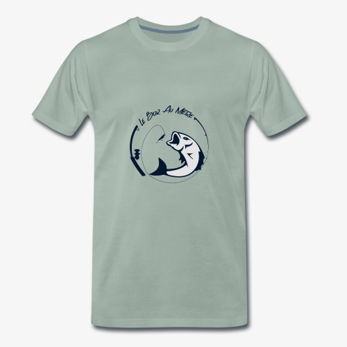 logo le bar au metre fond transparent - T-shirt Premium Homme