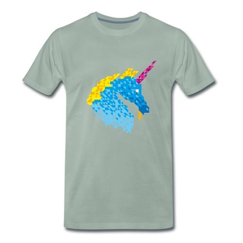Einhorn Dreieck - Männer Premium T-Shirt