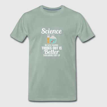 SCIENCE - teoretiker - TEORI - Professor - Premium-T-shirt herr
