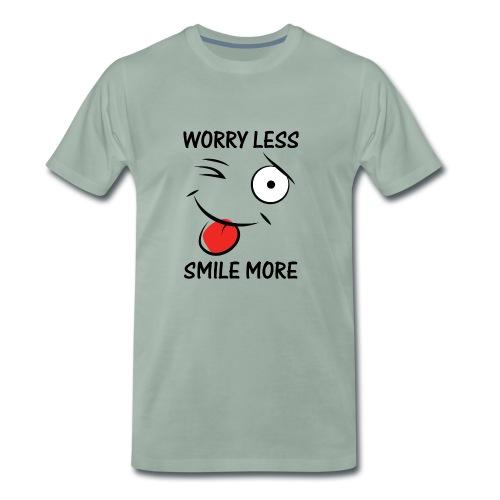 Sorge dich weniger, Lächel mehr. - Männer Premium T-Shirt