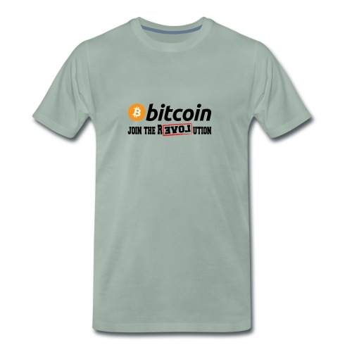 Bitcoin Join the Revolution - Männer Premium T-Shirt