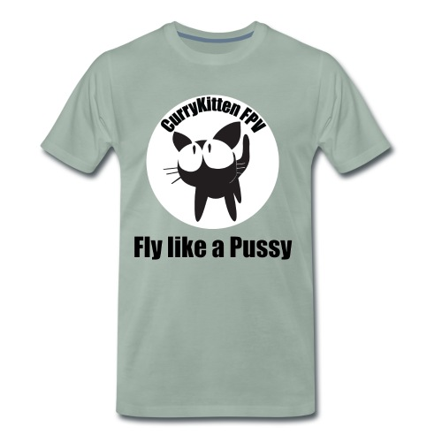 CurryKitten Logo - Fly like a Pussy - Men's Premium T-Shirt