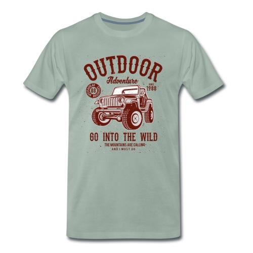 Outdoor Abenteuer - Männer Premium T-Shirt