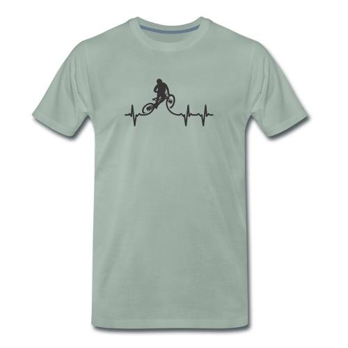 Herzschlag Mountainbiker - Männer Premium T-Shirt