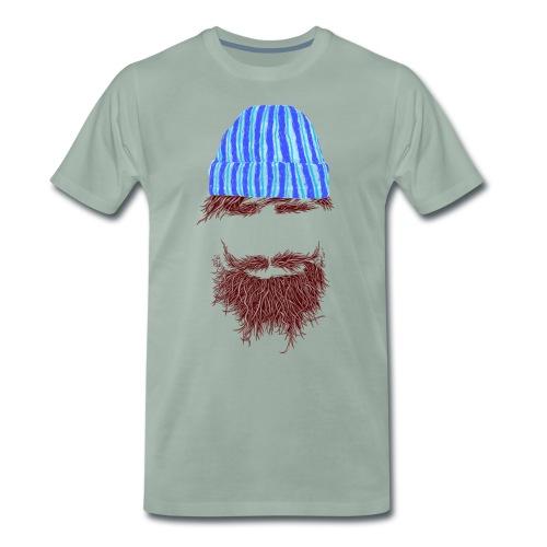 Hip, hip, Hipster Nummer 2 als gestreifte Variante - Männer Premium T-Shirt