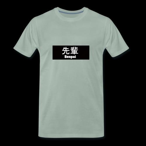 Senpai - Schriftzug - Männer Premium T-Shirt