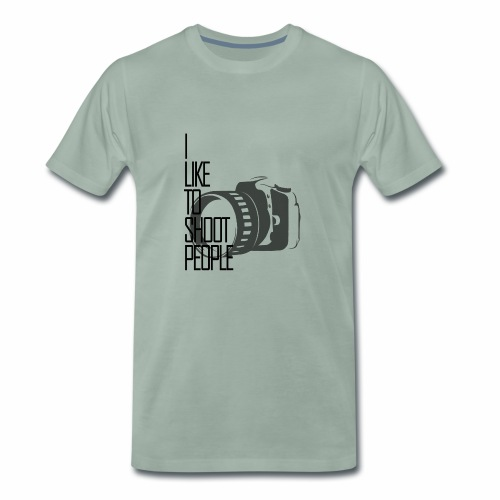 I like to shoot people - Men's Premium T-Shirt