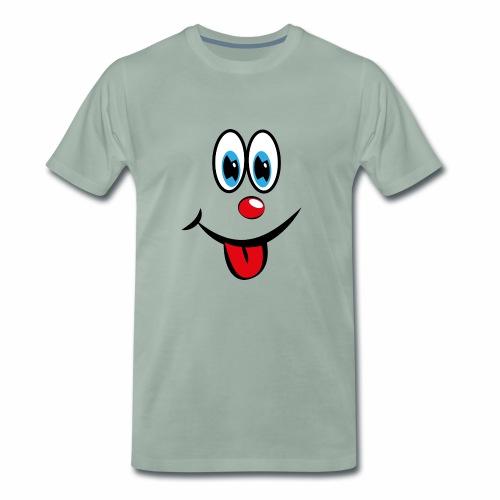 Smiley mit Zunge - Männer Premium T-Shirt
