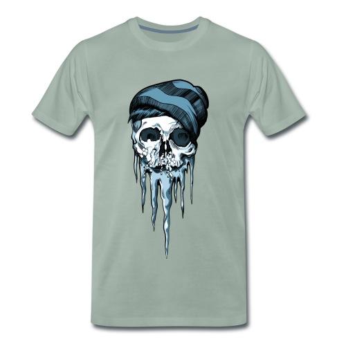 Snowboarder Totenkopf - Männer Premium T-Shirt