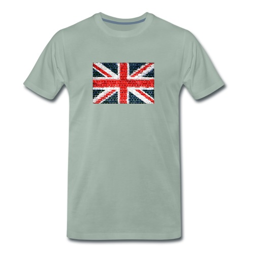 Union Jack Brick Wall - Men's Premium T-Shirt