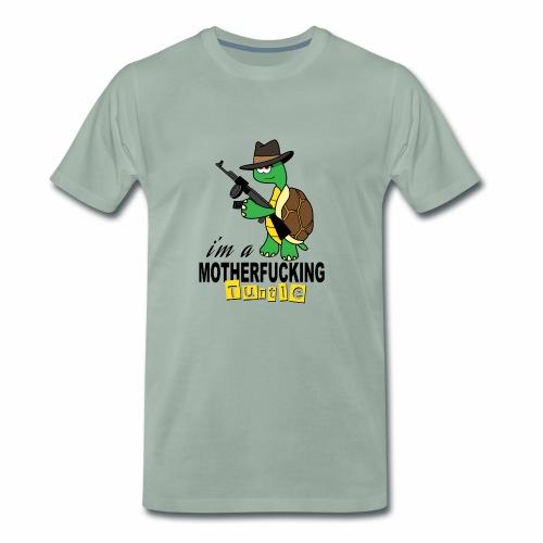 Gangster Schildkröte Geschenk Cool - Männer Premium T-Shirt