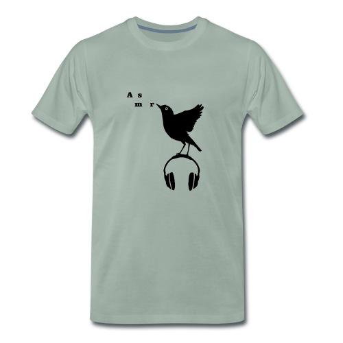 Musta Asmr-lintu ilman tekstiä - Miesten premium t-paita