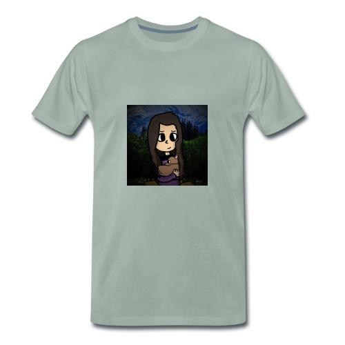 ninjax met achtergrond - Mannen Premium T-shirt