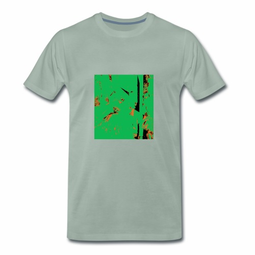 Dancers Pink and Green - Männer Premium T-Shirt
