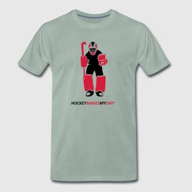 portero de hockey - Camiseta premium hombre