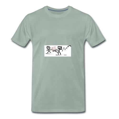 Wuerfelmaennchen - Männer Premium T-Shirt