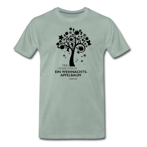 Weihnachtsapfelbaum klassisch, schwarz - Männer Premium T-Shirt
