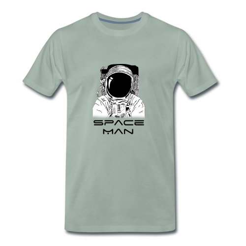 Space man black - Men's Premium T-Shirt