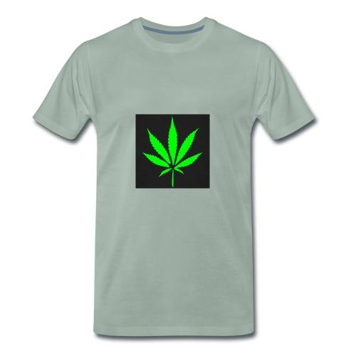 schwarz cannabis marihuana hanf t shirt maenner t - Männer Premium T-Shirt