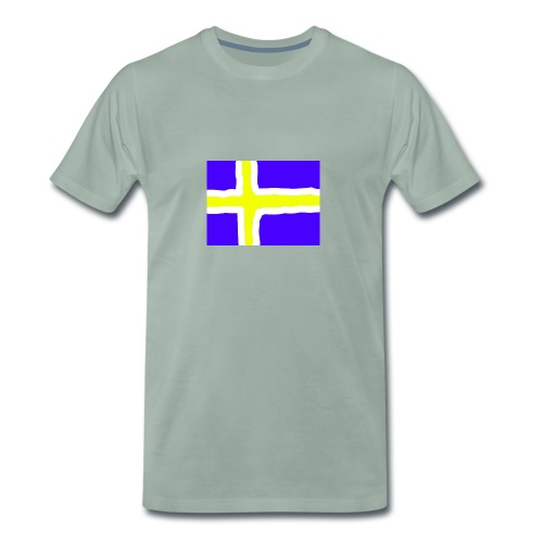 SwedishFlag Caps - Premium T-skjorte for menn