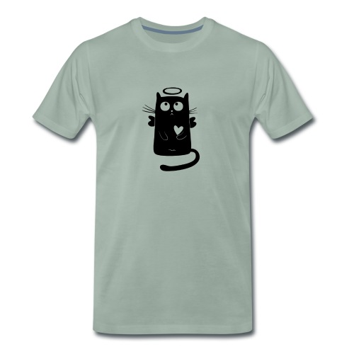 +++Engel Katze - Männer Premium T-Shirt