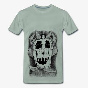 Fallen angels summoning the old samurai - Men's Premium T-Shirt