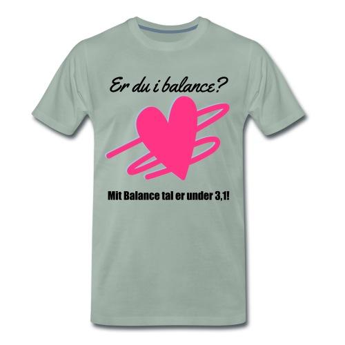 I Balance Design - Herre premium T-shirt