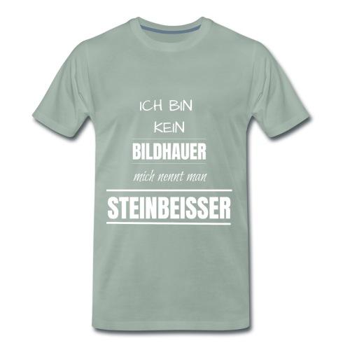 Bildhauer Beruf Spruch lustig Geburtstag Geschenk - Männer Premium T-Shirt